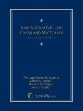 Administrative Law: Cases and Materials cover