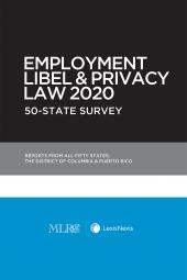 Employment Libel and Privacy Law 2019: 50-State Survey (Non-Members) cover