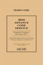 Idaho Advance Code Service cover