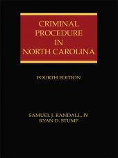 Criminal Procedure in North Carolina cover