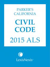 Parker's California Civil Code 2016 ALS cover