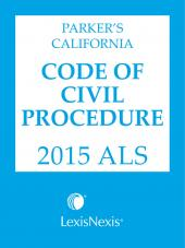 Parker's California Code of Civil Procedure ALS cover