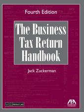 The Business Tax Return Handbook cover