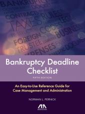 Bankruptcy Deadline Checklist cover