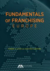 Fundamentals of Franchising - Europe cover