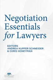 Negotiation Essentials for Lawyers cover