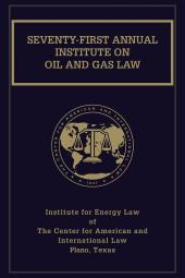 Proceedings of the Institute on Oil and Gas Law with Index Volume cover