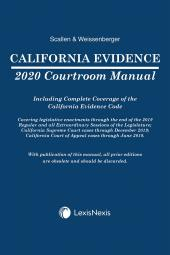 California Evidence Courtroom Manual cover