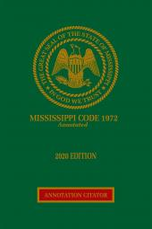 Mississippi Code Annotation Citator cover