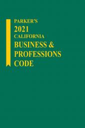 Parker's California Business & Professions Code cover