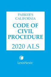 Parker's California Code of Civil Procedure ALS cover