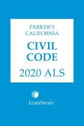 Parker's California Civil Code ALS cover