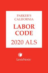 Parker's California Labor Code ALS cover