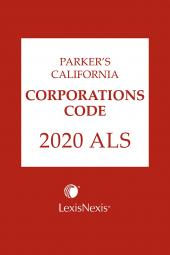 Parker's California Corporations Code ALS cover
