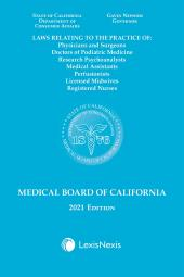 Laws Relating to the Medical Board of California cover