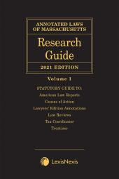 Annotated Laws of Massachusetts: Research Guide cover
