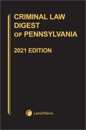 Criminal Law Digest of Pennsylvania cover