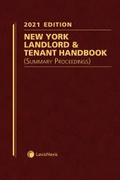 New York Landlord & Tenant Handbook (Summary Proceedings) cover