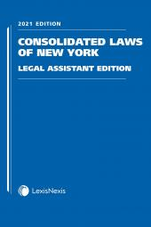 Consolidated Laws of New York, Legal Assistant Edition cover