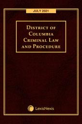 District of Columbia Criminal Law and Procedure cover