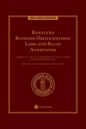 Kentucky Business Organizations Laws and Rules Annotated cover