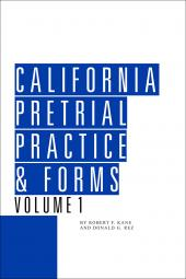 California Pretrial Practice & Forms cover