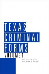 Texas Criminal Forms cover