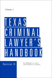 Texas Criminal Lawyer's Handbook cover