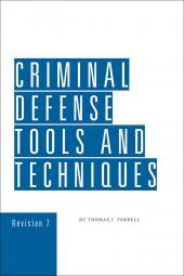 Criminal Defense Tools and Techniques cover