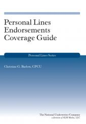 Personal Lines Endorsements Coverage Guide cover