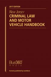 New Jersey Criminal Law and Motor Vehicle Handbook cover