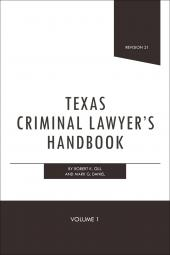 Texas Criminal Lawyer's Handbook cover