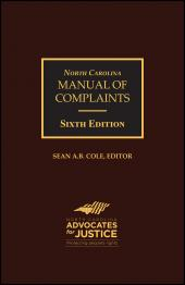 North Carolina Manual of Complaints, Sixth Edition cover