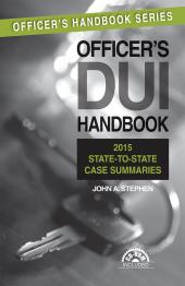 Officer's DUI Handbook, 6th Edition with 2014 Supplement cover