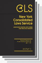 New York Consolidated Laws Service (CLS) cover