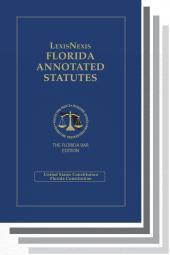 LexisNexis Florida Annotated Statutes, The Florida Bar Edition cover