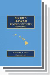 Michie's Hawaii Revised Statutes Annotated cover