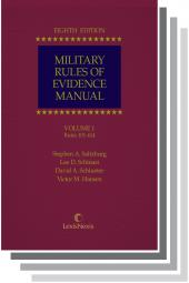 Military Rules of Evidence Manual, Eighth Edition cover
