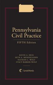 Pennsylvania Civil Practice cover