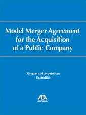 Model Merger Agreement for the Acquisition of a Public Company cover