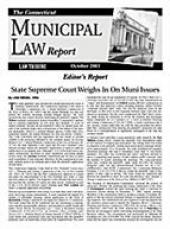 Connecticut Municipal Law Report cover
