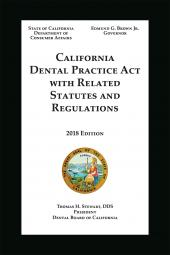 California Dental Practice Act cover
