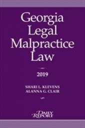 Georgia Legal Malpractice Law cover