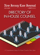 Directory of New Jersey In-House Counsel cover