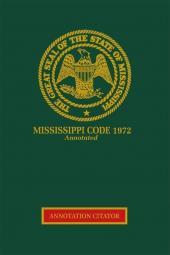 Mississippi Code Annotation Citator cover