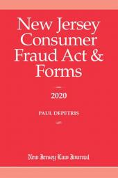 New Jersey Consumer Fraud Act & Forms cover