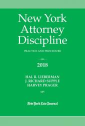 New York Attorney Discipline: Practice and Procedure  cover