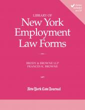 Library of New York Employment Law Forms cover