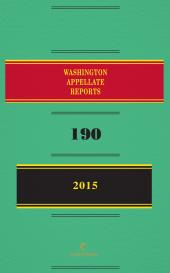 Washington Court of Appeals Bound Volume cover