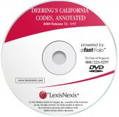 Deering's California Codes Annotated on LexisNexis CD cover